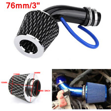 "76mm/3"" Cold Air Intake Induction Kit Alumimum Pipe + Black Filter for Car SUV"