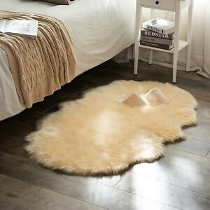 MIULEE Luxury Super Soft Fluffy Area Rug Faux Fur Rectangle Rug Decorative Plush