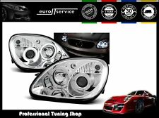 FARI ANTERIORI HEADLIGHTS LPME14 MERCEDES R170 SLK 1996-2002 2003 2004 ANGEL EYE