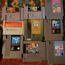 Nintendo NES/SNES Super Nintendo Game Lot, Donkey Kong Country, Legend of Zelda