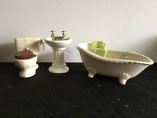 Vintage Dollhouse Furniture And Accessories, Bathroom