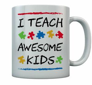 I Teach Awesome Kids - Awareness Gift For Autism Teacher Mug