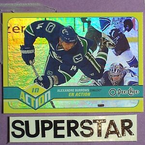 ALEXANDRE BURROWS  2011-12  O-Pee-Chee In Action RAINBOW  #A28 Vancouver Canucks