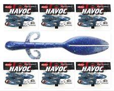 """(6) Unopened Bags Packs Berkley Havoc 5"""" Skeet Reece Wide Load Blue Disco Bd"""