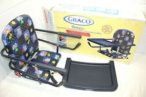 Vintage Graco Tot-Loc Chair Child Hook-On Table Booster Seat BLUE euc! IN BOX!