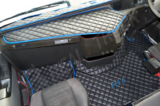 TRUCK ECO LEATHER FLOOR MATS SET FIT VOLVO FH 4 2013+ [FOLDING PASSENGER SEAT]