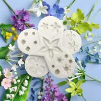 Chocolate Sugar Paste Mould Flower Silicone Fondant Mold Bake Cake Border Decor