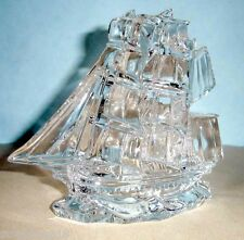 Waterford Crystal Tall Ship Sculpture Made In Slovenia New In Box