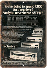 "Technics Panasonic Receiver Ad SA-5760 10"" x 7"" Reproduction Metal Sign D113"