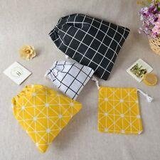 Portable Drawstring Bags Cotton Handbag Bag Travel Makeup Bag~