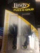 Lindy fuzz e grub jig walleye crappie fishing 2 pack New in Pack