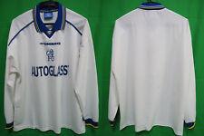 1998-1999-2000 Chelsea FC Jersey Shirt Away AUTOGLASS Umbro L/S Long Sleeve XL
