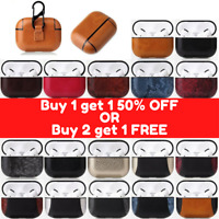 Luxury AirPod PRO Case Leather Protective Cover Skin For Apple AirPod with Clip