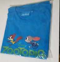 ZOOTOPIA PRMOTIONAL SHIRT DISNEY KIDS MOVIE TOY!