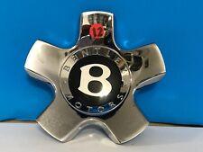 "2005-08 BENTLEY CONTINENTAL GT GTC 19"" CHROME GENUINE FACTORY OEM CENTER CAP"