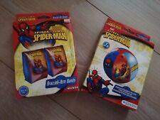 Wasserball und Schwimmflügel Spiderman  neu