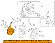 KIA OEM 10-13 Forte Front Brake-Backing Splash Dust Shield Plate 517551M300DS