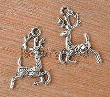 20pcs Tibetan Silver Charms Sika Deer Pendants 20x14MM F3353