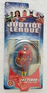 JUSTICE LEAGUE THE FLASH 1ST SERIES W/HOLOGRAM COLLECTOR CARD & DISPLAY STAND