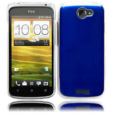 For AT&T HTC One X METAL Cosmo HARD Protector Case Snap On Phone Cover Blue