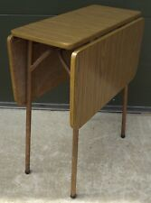 Vintage 1950s Melamine Drop-Leaf Dining Table on Metal Base - Good Retro Style
