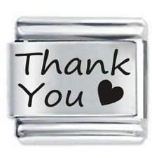 Daisy Charm  - Thank You Heart *  Fits Nomination Classic Italian Charm
