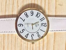 Big Easy Read White Leather Quartz Battery Watch, Mum Birthday Gift