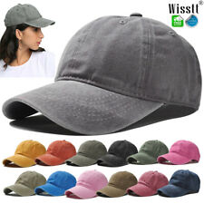 Baseball Cap Plain Mens Cotton Adjustable Solid Dad Hat Polo Style Washed Visor