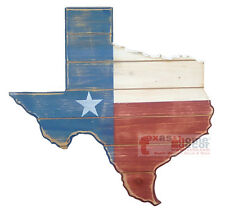 Wooden Texas Map Outline Lone Star Wall Plaque Rustic Weathered Finish 17.5 inch