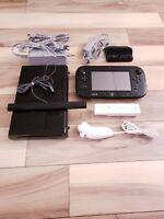 Nintendo Wii U 32GB Black Handheld System WUP - 101(02) With Extras Bundle