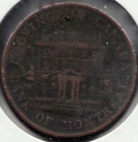 1842 - Province of Canada - Bank of Montreal - ½ Penny - Superfleas - PC-1A3