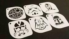 6pcs STAR WARS Style C-3PO Clone Sand Trooper Darth Vader Boba Death Stencils