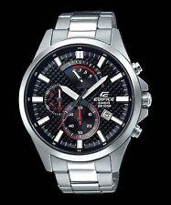 EFV-530D-1A Black Edifice Casio Men's Watches Steel Band