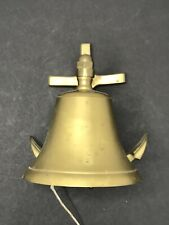ANTIQUE SMALL BRASS MARINE MARITIME NAUTICAL SHIP SHIPS BELL & ANCHOR WALLMOUNT