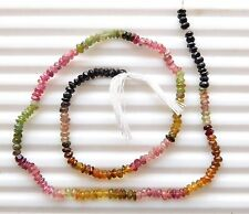 Natural Multi Tourmaline Cut Beads Round Faceted beads Loose Gemstone 3 mm G1735