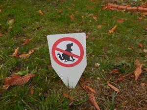 Einsteckschild Kein Hundeklo Hundehaufen Tretmine Schild - Größe 100 x 200 mm