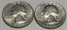 1989 P and D 2 Coin Washington Quarters Set In Great Condition