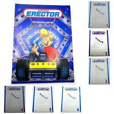 MECCANO ERECTOR Instruction Booklets Manuals Lot of 7 EUC HTF Free Shipping
