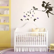 Butterfly Fairy Wall Sticker Fantasy Removable Nursery Girl Room Vinyl Art Decor