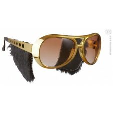 Adult's Elvis Sunglasses With Side Burns - Glasses Side Rock Roll Presley Fancy