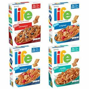 Quaker Life Breakfast Cereal, 3 Flavor Variety Pack (4 13 Ounce (Pack of 4)