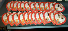 24 Old Print Factory Victorian Gibson Girl Hearts Valentine Paper Die Cut Lot
