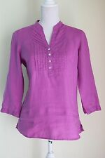 NEW SIZE 8 MARKS AND SPENCER Cerise Linen Top RRP £25 holiday Summer BNWT (285)
