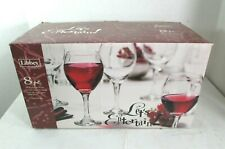 Libbey 8 pc All Purpose Wine Glasses Goblets 13.5 oz Let's Entertain In Box
