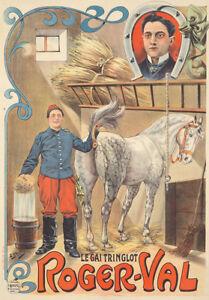 Original Vintage Poster French Horse Farm Grosfils ca. 1898