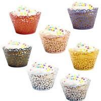 50pcs Little Vine Lace Laser Cut Cupcake Wrapper Liner Baking Cup Set WA