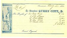 Original SACRAMENTO Steamboat QUEEN CITY And PONY EXPRESS 1860