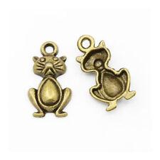 Bronze Modeschmuck-Halsketten & -Anhänger-Katzen