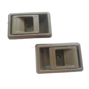Fit Toyota Tacoma 4Runner Pickup Inside Left Right Brown Door Handle 1995-2000