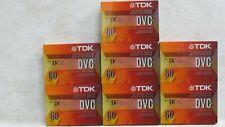 Lot of 7 Tdk Dvc 60 Mini Dv Digital Video Cassette Tapes Superior Grade.New